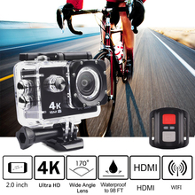 Trainshow 4K 16M Sports Action Camera action cam camara deportiva Car DVR HD 30m Waterproof Diving WiFi Remote Control Helmet(China)