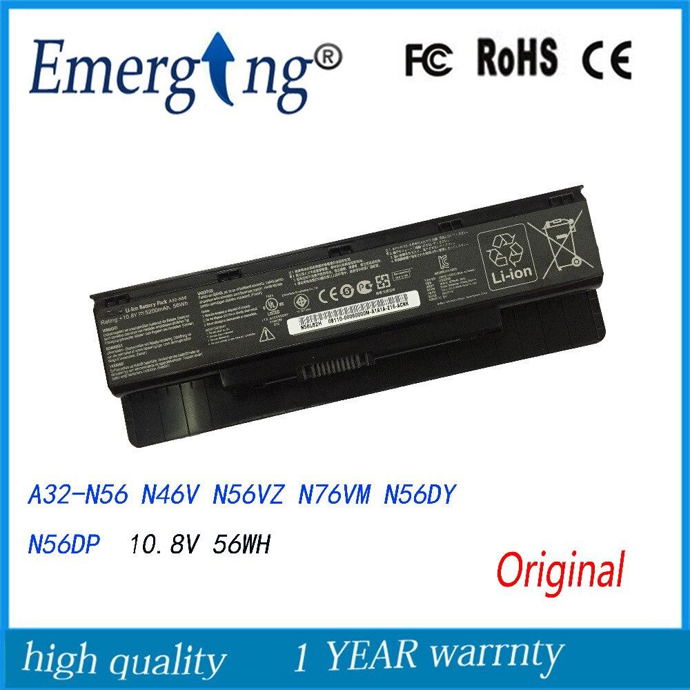 10.8V  Original New Laptop Battery for ASUS N46 N56  N76 Calibrate A32-N56 N46V N56VZ N76VM N56DY N56DP<br>