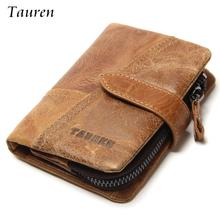 2017 100% Genuine Leather Men Wallets European And American Style Wallet Zip Coin Pocket Leather Purse Man Leather Wallet