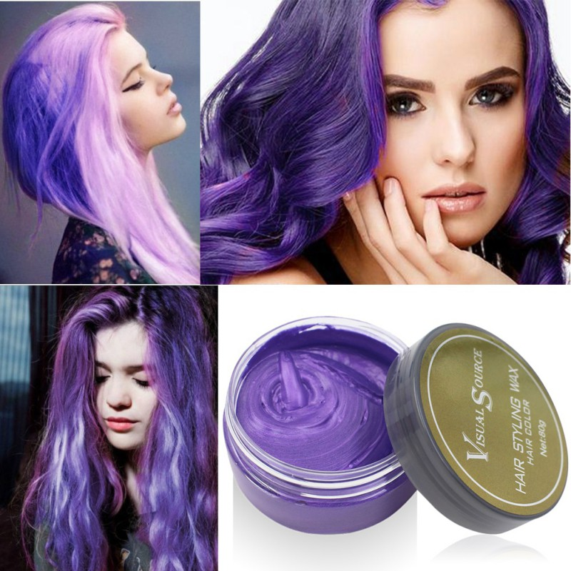 Professional Dynamic Modeling Hair Wax Makeup 5 Colors Hair Dye Wax Hair Color One-time Molding Paste Color Hair Wax New 2018 15