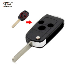 DANDKEY Remote Flip Folding Key Shell Case Cover For Honda CRV Fit Accord Civic 3 Button With LOGO Free Shipping