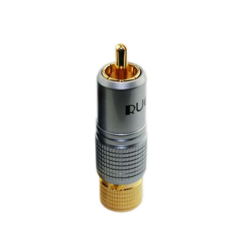 Gold Plated JSJ RCA Plug Locking Non solder plug connector free shipping(China)