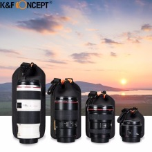 Buy K&F CONCEPT Camera Lens Bag Pouch Case Protector Waterproof Neoprene 4pcs S M L XL Size Canon Nikon Sony DSLR Camera Lens for $19.02 in AliExpress store