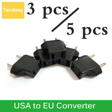 3PCs 5pcs US to EU AC Wall Power Plugs Adapter USA to Europe Converter Adapter  Plugs Sockets for Travel Household Converter