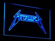 c018 Guitar Band Metal LED Neon Sign with On/Off Switch 20+ Colors 5 Sizes to choose Plastic Crafts(China)