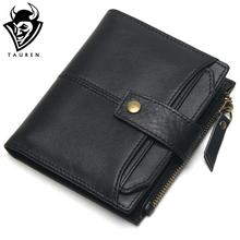 Buy 100% Genuine Leather Men Wallets Short Coin Purse Small Vintage Wallet Cowhide Leather Card Holder Pocket Purse Men Wallets for $13.22 in AliExpress store