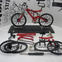 Amazing Red Finger Bicycle Moutian-Bike model Toys DIY Alloy sent  sports Games Boys Kits FSB BMX child  Collectible Gift&Decor