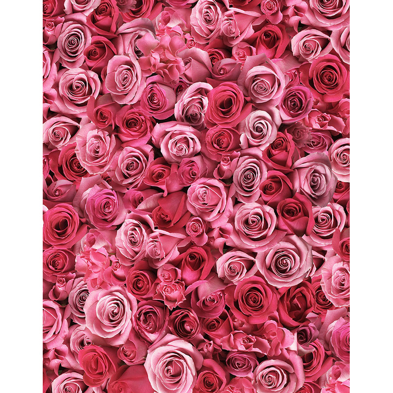 Custom washable wrinkle resistant print 3D pink roses wall photo studio backgrounds for wedding photography backdrops S-2561-A<br>
