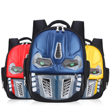 Waterproof Kids Children Animals Printing Backpack for Girls Boys Transformers School Bags For Child Aged 1-6 ME727