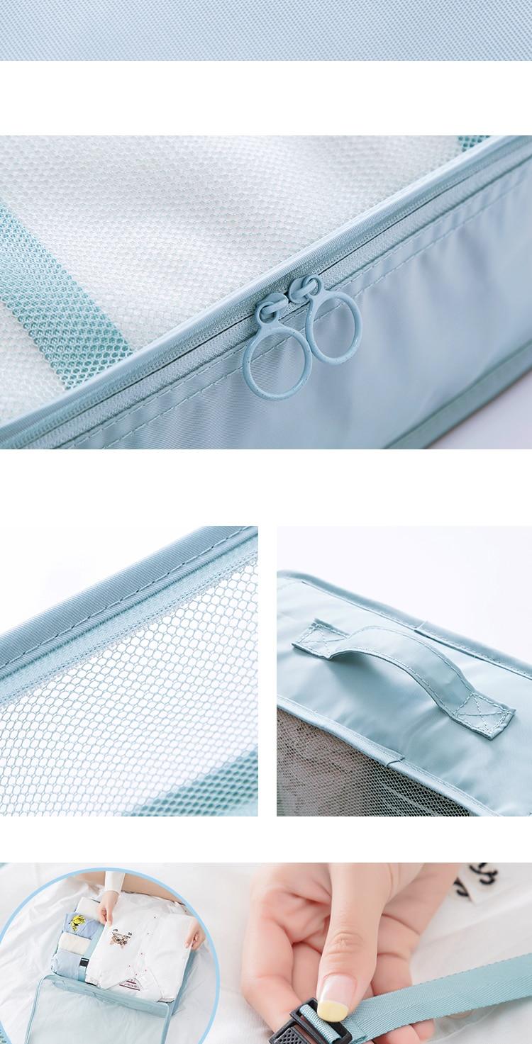 2018 New Korean Stylish Travel Organizer 7PCSset Travel Bag  Female Storage Bag For Waterproof Portable Storage Case Accessorie 7