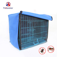 Dog Cage Cover Foldable Anti-mosquito Tent Waterproof Oxford Pet Crate Cover for Wire Crate Dog Kennel Cage Blanket Without Cage(China)