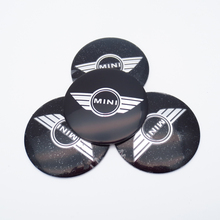 4Pcs 56.5mm Car Styling Metal Car Badge Decal Wheel Center Hub Caps Emblem Dust-proof Stickers For BMW Mini Cooper Accessories