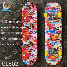"NON-PRO Skate Board7 Layers 31*8 inch Skate Deck 79cm*19cm with 5""Trucks Wheels Bearings Skateboard Complete Set for New SK8ERS(China)"