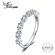 JewelryPalace 925 Sterling Silver Band Ring a Lot of AAA Fashion Design for engagement Fine Jewelry for Women(China)