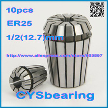 tool holder 10pcs /lot ER25 1/2 12.7mm spring ER collet chuck for CNC milling lathe Machine Tool(China)