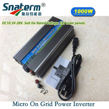 HOT SALE!! MPPT 1000W On-grid Solar Micro Power Inverter DC 10.5-28V AC 220V AC120V PV solar grid tie inverter(China)