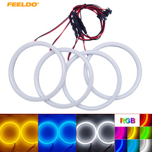 FEELDO 1Set Auto Halo Rings Cotton Lights SMD LED Angel Eyes For BMW E30/E32/E34 DRL Light 4-Color #AM4615(China)