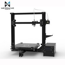 2017 Micromake 3D Printer Large Printing Size 245*245*260mm Micromake C1 Metal Sheet/Arcylic H-botXZ Structure DIY Kit(China)