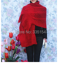 Winter Women Plain Color Braided Crocheted Wool Acrylic Scarf Shawls Wraps Knitted Scarf 10Colors 10pcs/lot(China)