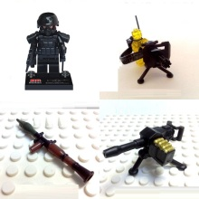 4pcs/set RPG Gatlin weapons original Block toy swat police military weapons lepin accessories Compatible lepin mini figures
