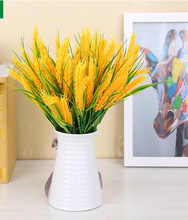 1pc Artificial Plants Fake Wheat Flowers Silk plant Green grass European Home country decoration Garden Plants MA1946