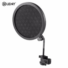 PS-2 Double Layer Studio Microphone Mic Wind Screen Pop Filter/ Swivel Mount / Mask Shied For Speaking Recording High quality !!(China)