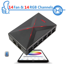 ALSEYE Commander-X Fan controller, Bluetooth APP Fan Speed and RGB Controller for PC, 14 Channels Multi-function DIY Equipment
