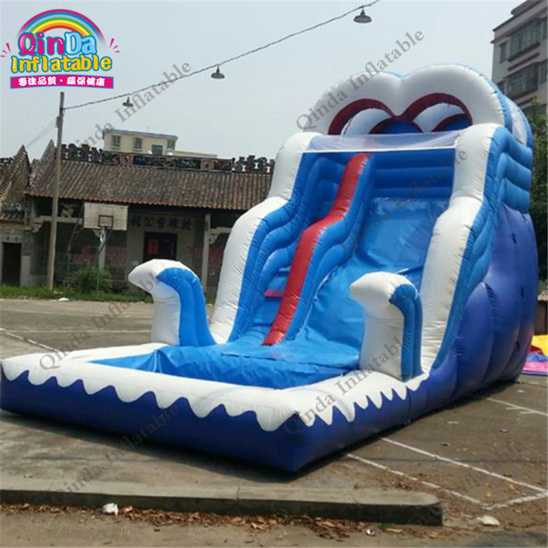 inflatable water slide with pool89