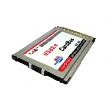50pcs / lots 2 Ports USB 2.0 PCMCIA PC CardBus Latop Notebook 54mm VIA Chip Adapter insert , Free shipping By Fedex
