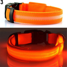 Puppy Dog Cat Night Safety Flashing Luminous LED Light Adjustable Fluorescent Pet Collar Basic Leashes