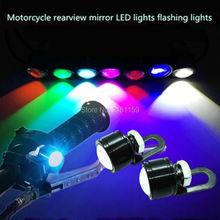 2Pcs bright motorcycle LED headlight rearview light mirror lamp Spotlights bulb DRL daytime running light 12V flashing light
