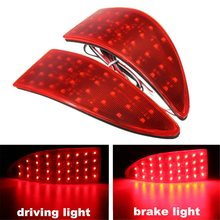 1 Pair 12V 5.2W 33 LED Rear Bumper Tail Brake Driving Reverse Light For Lexus IS 250 350 220d