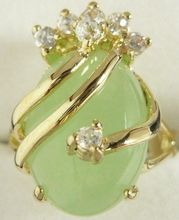 beautiful & charmming light green jades ring GP(#7 8 9)