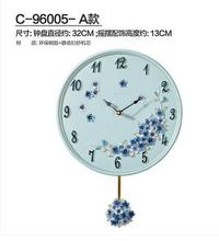 European creative wall clock, the sitting room wall clock of individual character vogue, contracted mute pendulum clock.