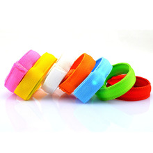 Hot Sale Night Running Led Flashing Wrist strap Rescue Bangle Nightclub Glow Waterproof Safety Bracelet Strip Velcro