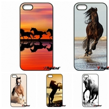 For Xiaomi Redmi Note 2 3 3S 4 Pro Mi3 Mi4i Mi4C Mi5S MAX iPod Touch 4 5 6 Wild horses Running sunset Plastic Phone Cover Case
