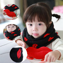 1 pcs Lovely Korean Children Unisex Scarf Kids Fashion Cotton Head Set Ring Winter Warm Cute(China)