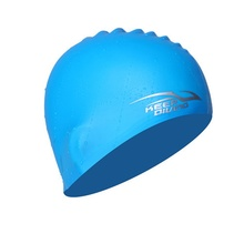 Durable Silicone Swimming Cap Waterproof Adult&Kid Stretch Bath Hat Shower Cool