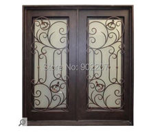 "Custom design 72"" x 96""  Luxury Wrought Iron Entry  Double Door"