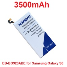 HSABAT 3500mAh EB-BG920ABE Mobile Phone Battery Use for Samsung Galaxy S6 G9200 G920f G920i G920A G925S Phone