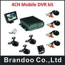 School bus truck realtime digital video recorder 4CH mobile DVR(China)