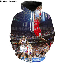 PLstar Cosmos Michael Jordan basketballer 3d Hoodies printing 3d Sweatshirts Women Men Tracksuits size S-5XL(China)