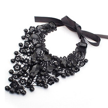 Women Collar Choker Necklace Black Lace Retro Gothic Pendant Vintage Jewelry Accessories 2017 Choker Necklace Female Maxi Colar