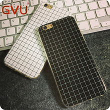 New Mobile Phone Case TPU Black Lattice and White Lattice High Quality Fashion Phone Case for iPhoneSE 5 5S 6 6S 6plus
