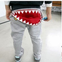 Newborn Baby Kids Boys Girls Zipper Monster Mouth Shaped Design Casual Harem Pants Toddler Loose Trousers Bottom