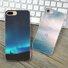 Soft TPU Case Cover For Apple iPhone 5 5S SE 6 6S 6Plus 7 7Plus Cases Phone Shell Top Style Charming Aurora Unicorn Painting