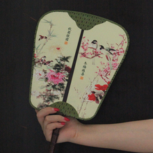 Weilong/1Pieces Duplex Printing Palace Hand Fan, Antique China fan,21*36.5Cm TS101(China)