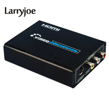 Larryjoe New 1080P HD HDMI to AV/Svideo Video Converter HDMI 2RCA/SVIDEO+S VIDEO Switcher Adaptor(China)