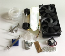 Computer graphics CPU Host Bridge radiator water-cooling jacket water pump head tank cooling liquid cooling set