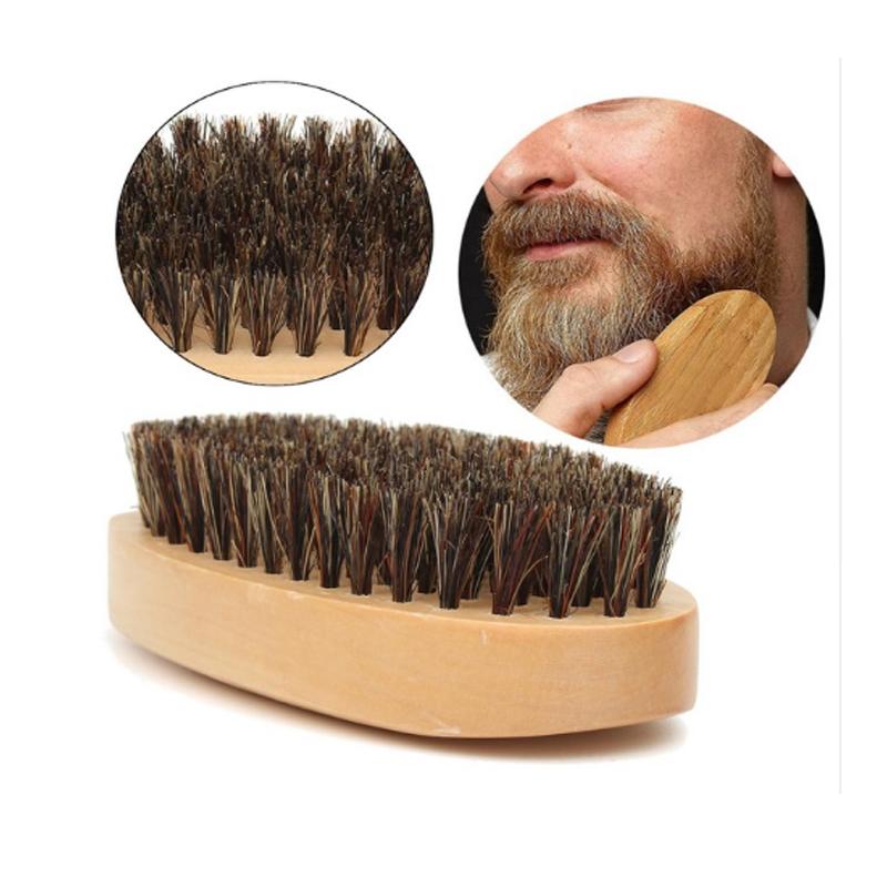 3pcs natural wooden beard comb boar bristle hair brush lice comb men beard apron barber salon cape hairdressing for haircut 8
